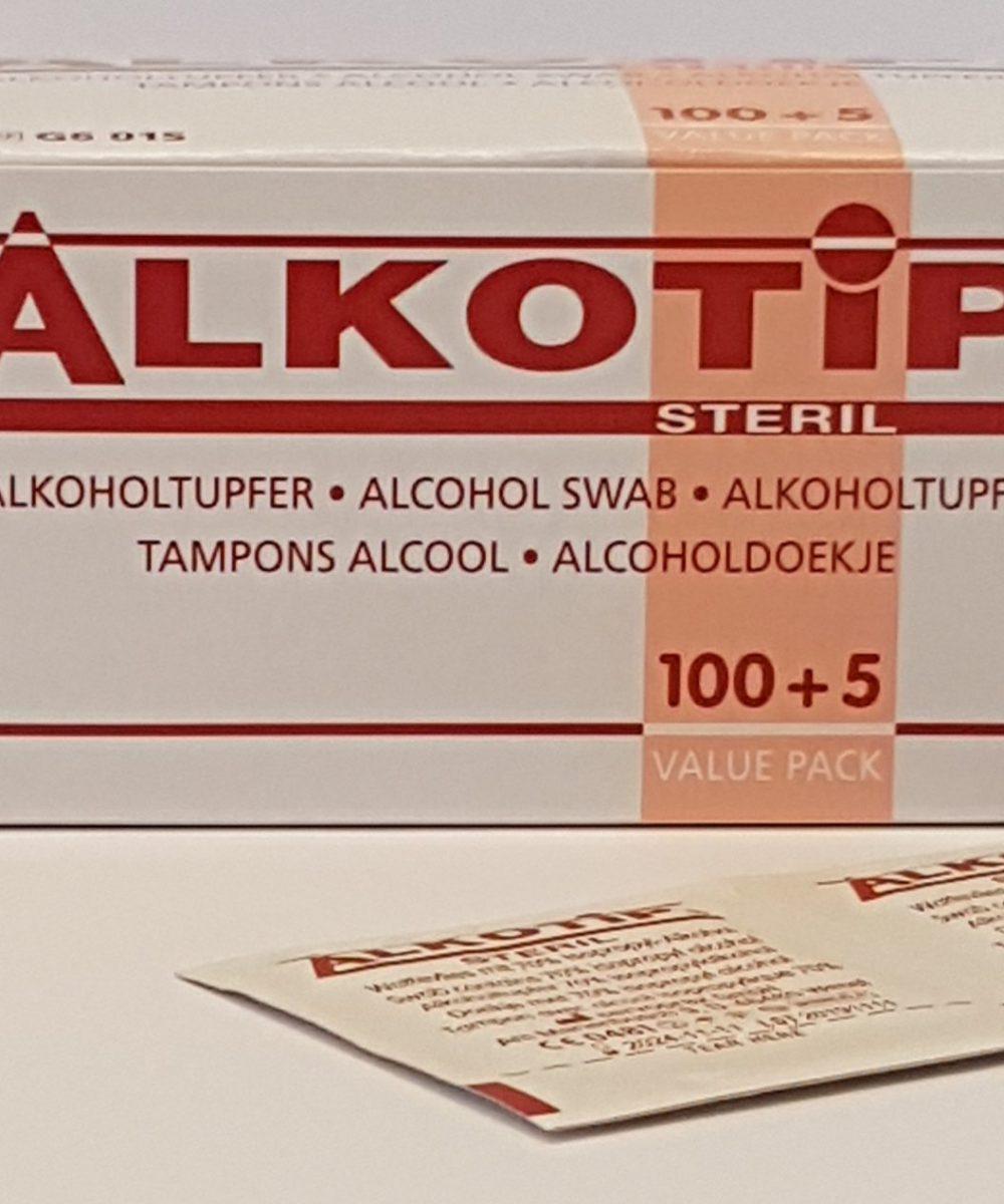 Alcohol voor de huid van de klant